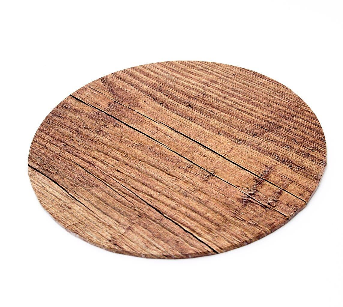 "10"" Wood Round Masonite Cake Boards"
