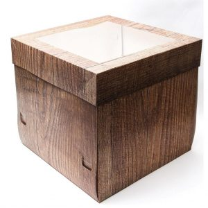 "12""x12""x12"" Wood Cake Box"