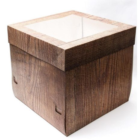 "12""x12""x12"" Wood Cake Box - Bulk 10 Pack"
